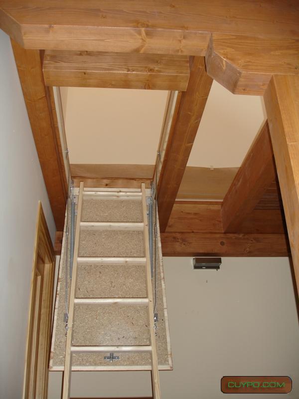 Casas prefabricadas madera escaleras de altillos - Escaleras para altillos ...