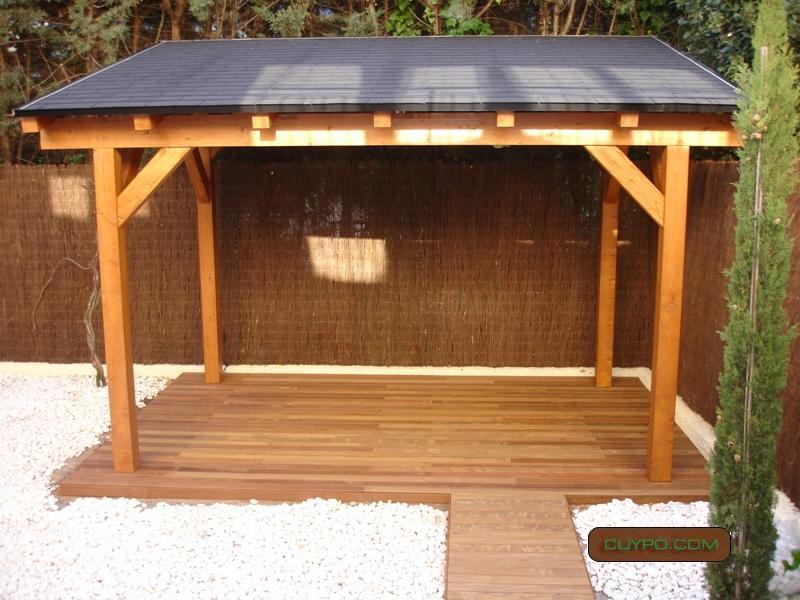 Prgolas madrid prgola de madera porches de madera for Tejados de madera para exterior